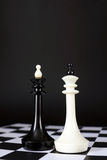 Two chess kings. Battle of equal rivals Royalty Free Stock Images