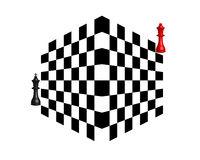 Two chess pieces Stock Photography