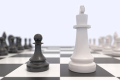 Two chess pieces Royalty Free Stock Photo