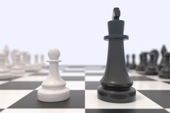 Two chess pieces Royalty Free Stock Photography