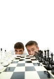 Two chess players Royalty Free Stock Photo