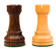 Two Chess Rooks Royalty Free Stock Images