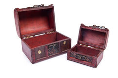 Two chests isolated Stock Image