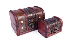 Two chests. Isolated on the white Stock Images