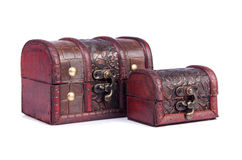 Two chests. On the white Royalty Free Stock Image