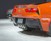 Two 2015 Chevrolet Corvettes Royalty Free Stock Images