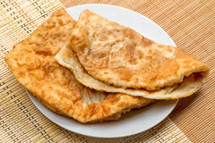 Two Chiburekki on a plate Stock Images