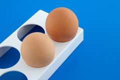 Two chicken eggs Royalty Free Stock Image