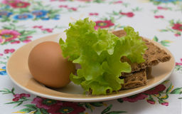 Two chicken eggs with toast Royalty Free Stock Image