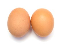 Two chicken eggs Stock Photography