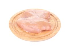Two chicken fillets on platter. Royalty Free Stock Image
