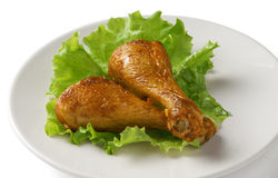 Two chicken legs Royalty Free Stock Photos