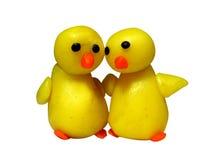 Two chicks. Plasticine Royalty Free Stock Image