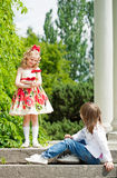 Two children Stock Images