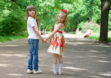 Two children Stock Photo