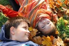 Two children Stock Photo