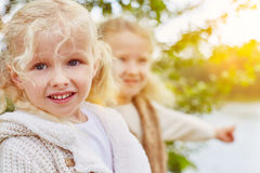 Two children in autumn Royalty Free Stock Photography