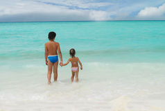 Two children on the beach Stock Photography