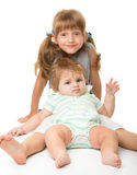 Two children are having fun royalty free stock photography