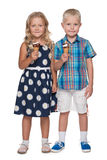Two children with ice cream Royalty Free Stock Photos