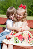 Two children in park Royalty Free Stock Photography