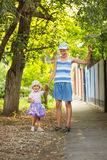 Two children in the park Stock Image