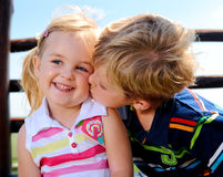 Two children in the playground Stock Image