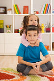 Two children playing Stock Image