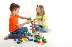 Two children playing Stock Photography