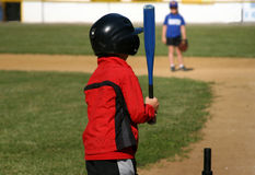 Two children playing baseball Royalty Free Stock Images