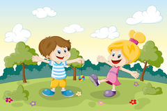 Two children playing Royalty Free Stock Photography