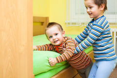 Two children playing together Royalty Free Stock Photos