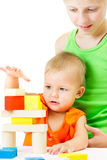 Two children playing together Stock Photos
