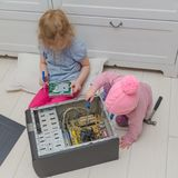 Two children repair a computer, a system unit. Girls, two children repair the computer system unit with a screwdriver Stock Photos