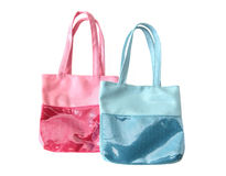 Two children's bags with sequins Stock Photo