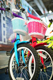 Two Children`s Bike For Boys And Girls Stock Photography