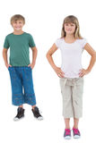 Two children smiling at camera Royalty Free Stock Images