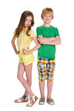 Two children stand together Stock Photos