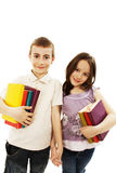 Two children students returning to school Stock Image