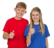 Two children together Stock Photography