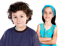 Two childrens students Royalty Free Stock Photos