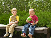 The two childs Stock Image