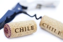 Chile Wine Corks & Bottle Opener Royalty Free Stock Image
