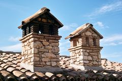 Two chimneys Stock Photography