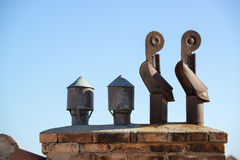 Two chimneys Royalty Free Stock Images