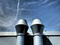 Two chimneys Stock Images