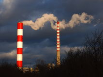 Two Chimneys Royalty Free Stock Image