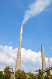 Two chimneys, industry Stock Images