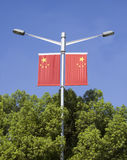 two china national flags Stock Photography