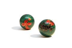 Two chinese balls Stock Photography